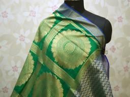Green banarasi women scarfs indian ethnic gown wear designer dupatta bridesmaid evening  brocade long handloom christmas birthday gifts silk scarves boho occasion dress fabric stoles for festive wear