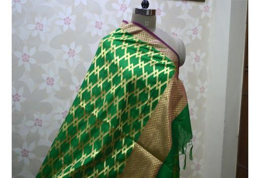 Wedding Banarasi Brocade Dupatta Scarf Benarasi Dupatta