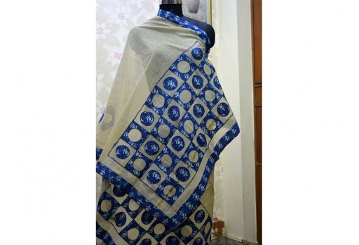 Indian Patchwork Boho Scarf Dupatta Women stole Scarf for Gift Cotton Dupatta Gifts for Her Christmas Gifts Long Scarf bohemian scarf