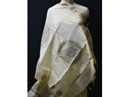 Indian beige chanderi cotton dupatta boho women stole elegant evening scarves gifts for bridesmaid stoles christmas fashion accessory