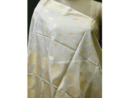 Ivory Gold Dyeable Chanderi Cotton Indian Wedding Dupatta Women Birthday Scarves Gifts For Her Bridesmaid Stoles Christmas Fashion Accessory