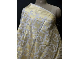 White Dyeable Indian Scarf Dupatta Evening Scarves Gifts For Her Women Brocade Silk Stole Bridesmaid Wedding Christmas Birthday Gifts