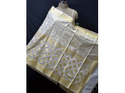Dyeable Indian Ivory Gold Chanderi Cotton Dupatta Bridesmaid Evening Wedding Scarves Boho Women Stole Gifts for Christmas Fashion Accessory