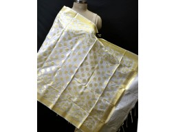 Indian dye able ivory gold chanderi cotton dupatta bridesmaid evening wedding scarves boho women stole gifts for christmas wedding birthday party fashion accessory