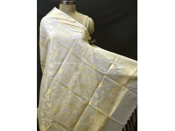 Dyeable Indian Wedding Ivory Gold Chanderi Cotton Dupatta Bridesmaid Evening Scarves Boho Women Stole Gifts for Christmas Fashion Accessory