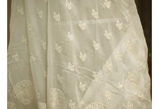 Dyeable White Indian Chikankari Embroidery Dupatta Lehenga Embroidered Wedding Veil Chikan Punjabi Dupatta Stoles Wraps head scarf for women