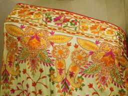 Indian Embroidered Wedding Dupatta Georgette Long Dupatta Chuni Bridal Veil Lehenga Embroidery Stoles Festival..