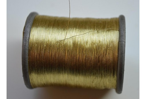 Metallic Golden Embroidery Thread Hand And Machine Embroidery Thread