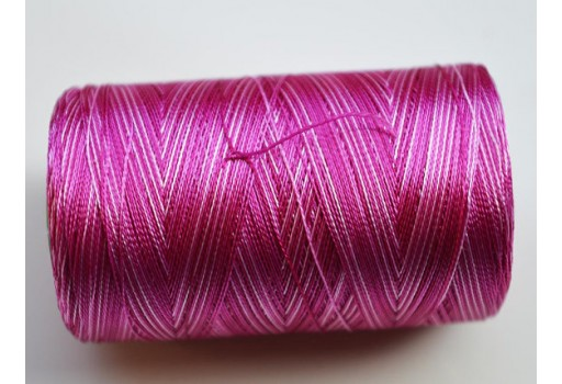 Plum and White Silk Thread Spool Art Silk Thread Hand And Machine Embroidery Thread