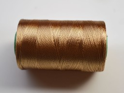 Peanut Brown Silk Thread Spool Art Silk Thread