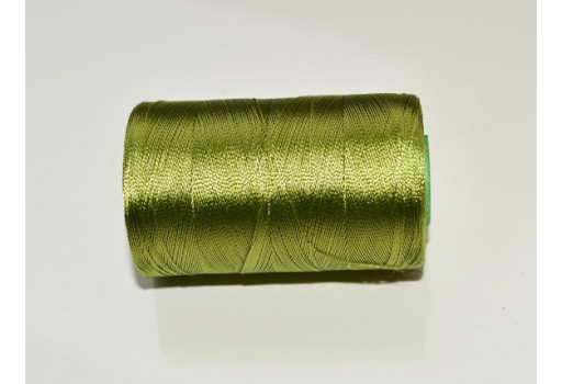 Olive Green Thread Spool Art Silk Thread Hand And Machine Embroidery Thread