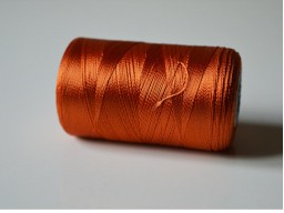 Dark Orange Silk Thread Spool Art Silk Thread Hand Machine Embroidery Thread