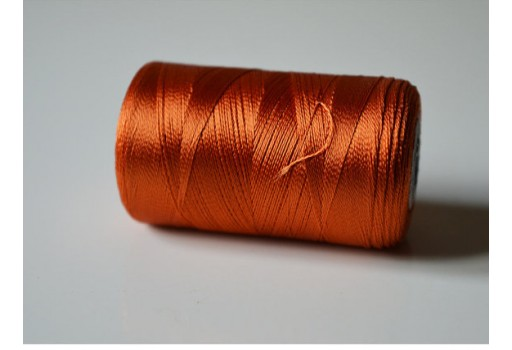 Dark Orange Silk Thread Spool Art Silk Thread Hand Machine Embroidery Thread