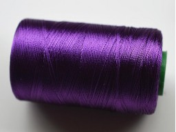 Egg Plant Thread Spool Art Silk Thread Hand And Machine Embroidery Thread