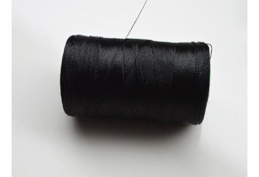 Black Silk Thread Spool Art Silk Thread Hand And Machine Embroidery Thread