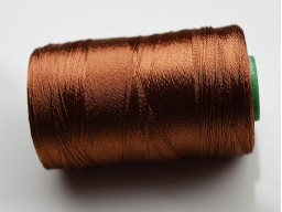 Golden Brown Silk Thread Spool Art Silk Thread