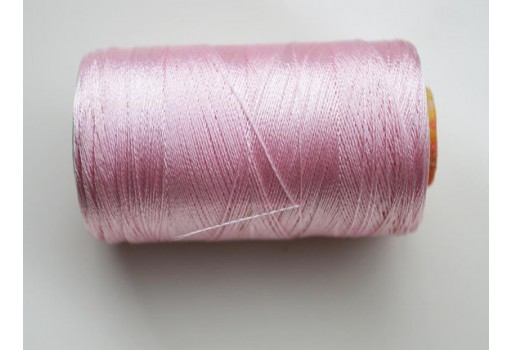 Baby Pink Silk Thread Spool Art Silk Thread Hand And Machine Embroidery Thread