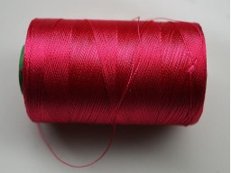 Classic Magenta Art Silk Thread Spool Hand Machine Embroidery Thread