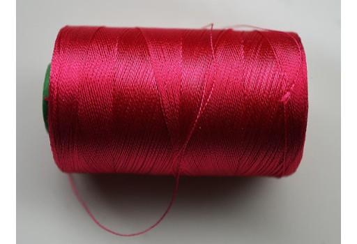 Classic Magenta Art Silk Thread Spool Hand Machine Embroidery Thread