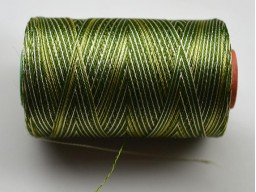 Olive Green and Ivory Thread Spool Art Silk Thread