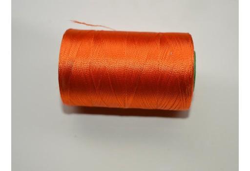 Orange Silk Thread Spool Art Silk Thread Hand Machine Embroidery Thread