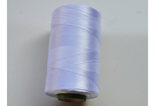 White Silk Thread Spool Art Silk Thread Hand And Machine Embroidery Thread
