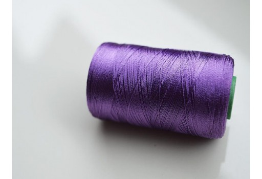 Dark Lavender Silk Thread Spool Art Silk Thread Hand And Machine Embroidery Thread