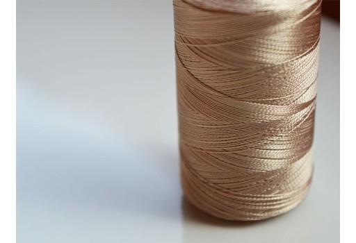 Latte Color Silk Thread Spool Art Silk Thread Hand And Machine Embroidery Thread