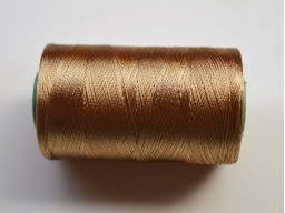 Peanut Brown Silk Thread Spool Art Silk Thread Hand And Machine Embroidery Thread