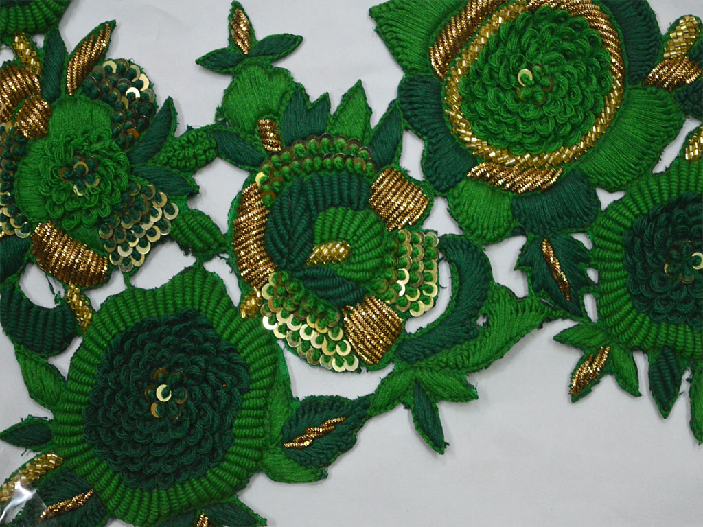 Handmade Patches Crafting Supply Beaded Heavy Appliques