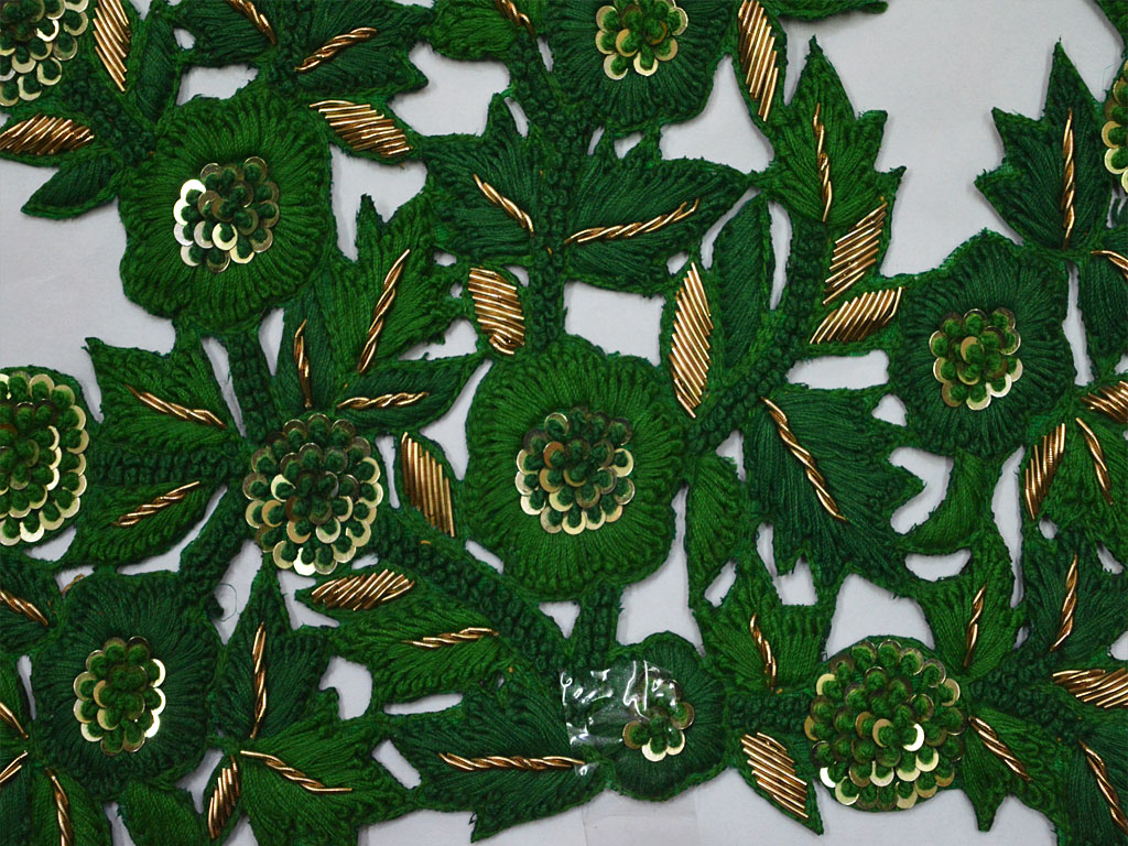 Handmade Floral Thread Decorative Sewing Indian Patches For Dresses