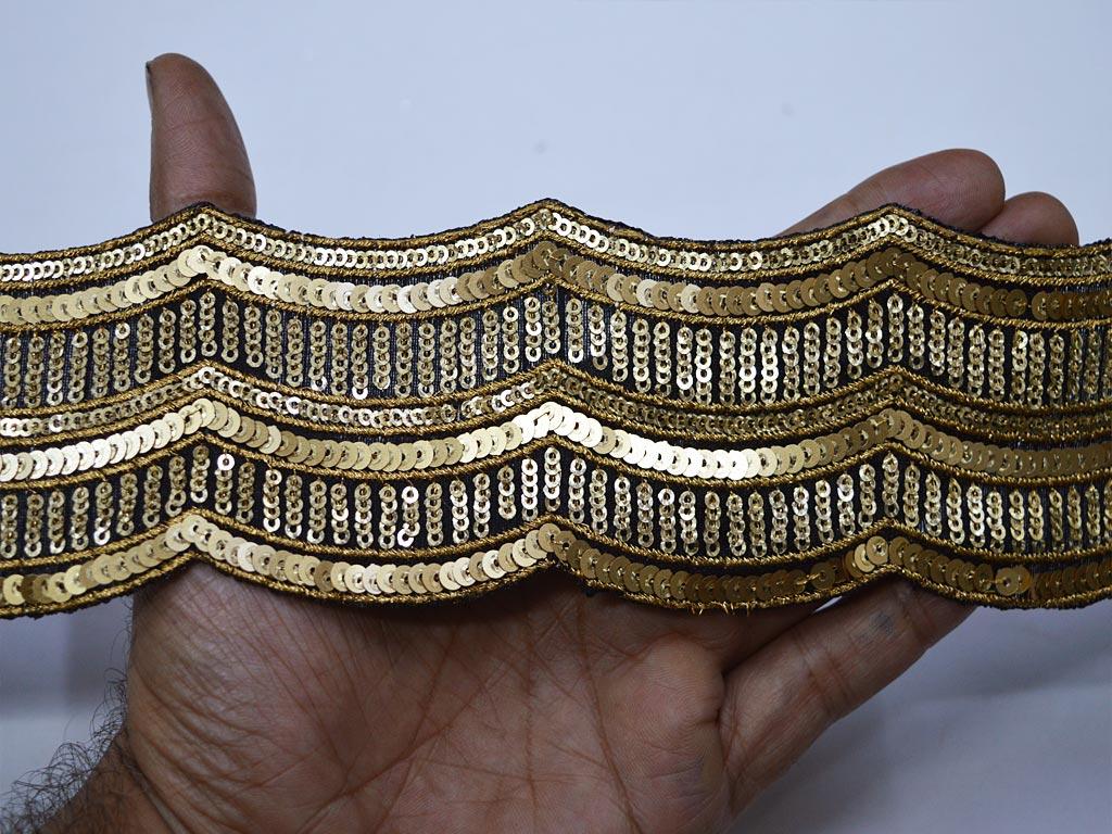 6 Yards Vintage Sari Trim Designer Borders Indian Saree Trim Decorative Trim Saree Border Decorative Brocade Trim Ribbon Lace Craft Cloth