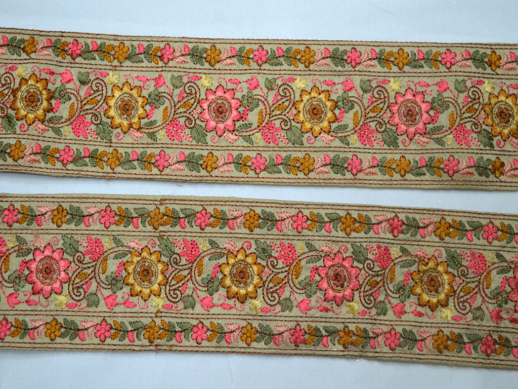 TRM-TU-648 Indian Crafting Animal Skin Texture Decorative Fabric Lace Printed Velvet Trim Sewing Border Ribbon Trim By 9 Yard