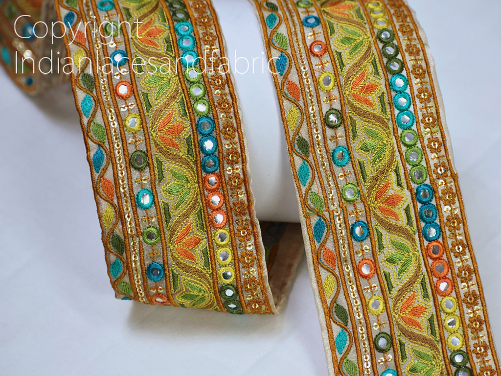 9 Yard Wholesale Decorative Cushions trimmings clothing accessories Indian trim embroidered sari border sari lace décor wedding costume tape sewing fashion crafting ribbon