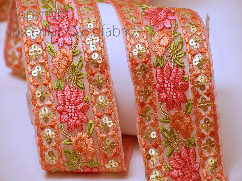 9 Yard Wholesale Embroidered costume decorative craft trim fashion sewing dupatta border garments accessories lehenga ribbon Christmas trimming embroidery Indian laces