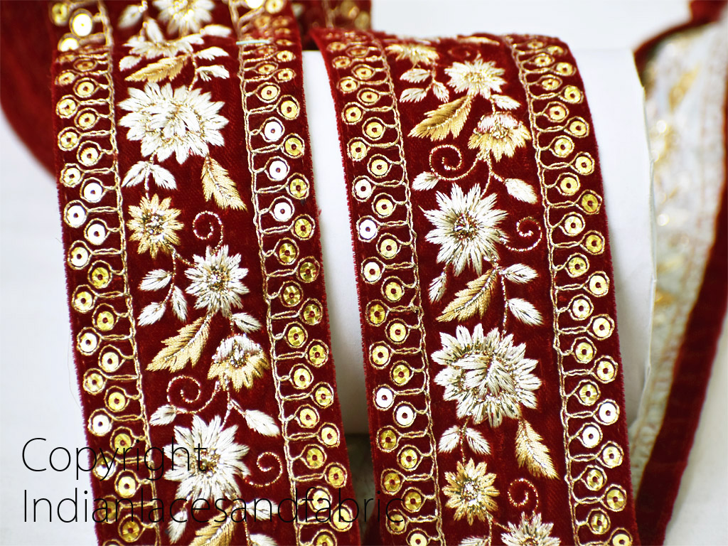 9 yard Wholesale Designer trim embroidery wear border embellishments Indian suit crafting tape embellishment sewing decorative costume trimming sari lace clothing accessories