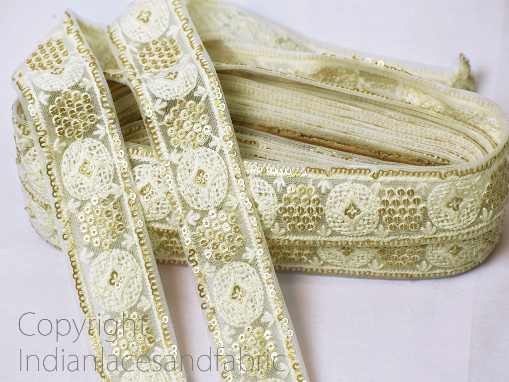 9 yard Wholesale sari sewing fabric saree embroidered sewing wear decorative trim beach bags making ribbon embroidery dresses accessories floral Indian costume border crafting lace