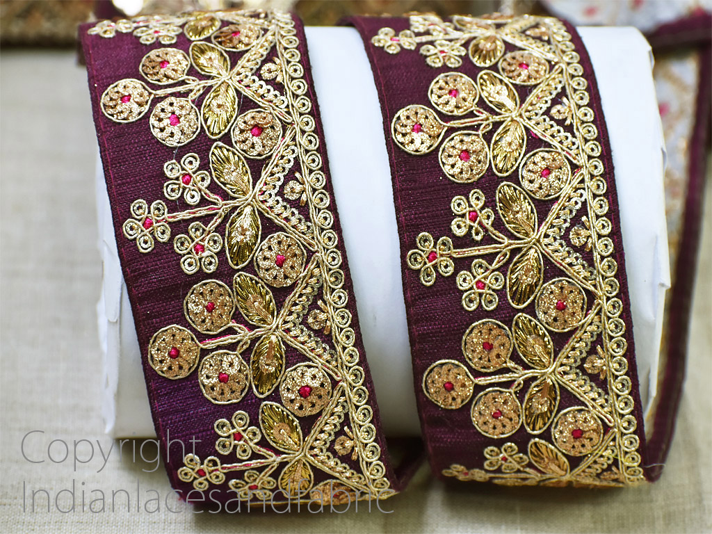 9 Yard Wholesale decorative costume crafting ribbon embroidered garment accessories sequins wedding home décor gown dress Christmas border decorative embellishments Indian sari laces