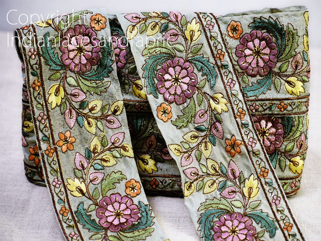 9 yard Wholesale Decorative embroidered borders saree trim costume tape sewing Indian fabric ribbon crafting cushions home decor curtains headband making laces garment accessories