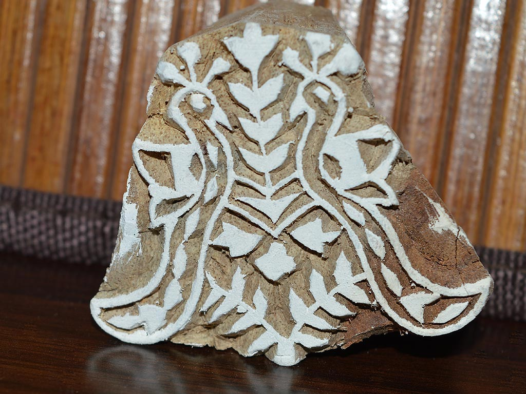 Tree Pattern Block Printing Wooden Stamp Hand Carved Indian Digital Textile Fabric Wall Stamp Scrap booking Craft Clay Wood Blocks For kids