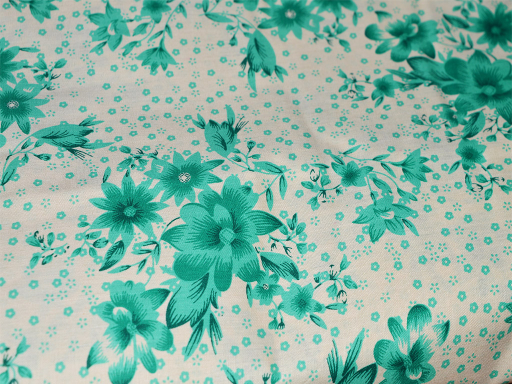 Floral Cotton Print On White Cotton Dress Nursery Quilting Crafting Fabric