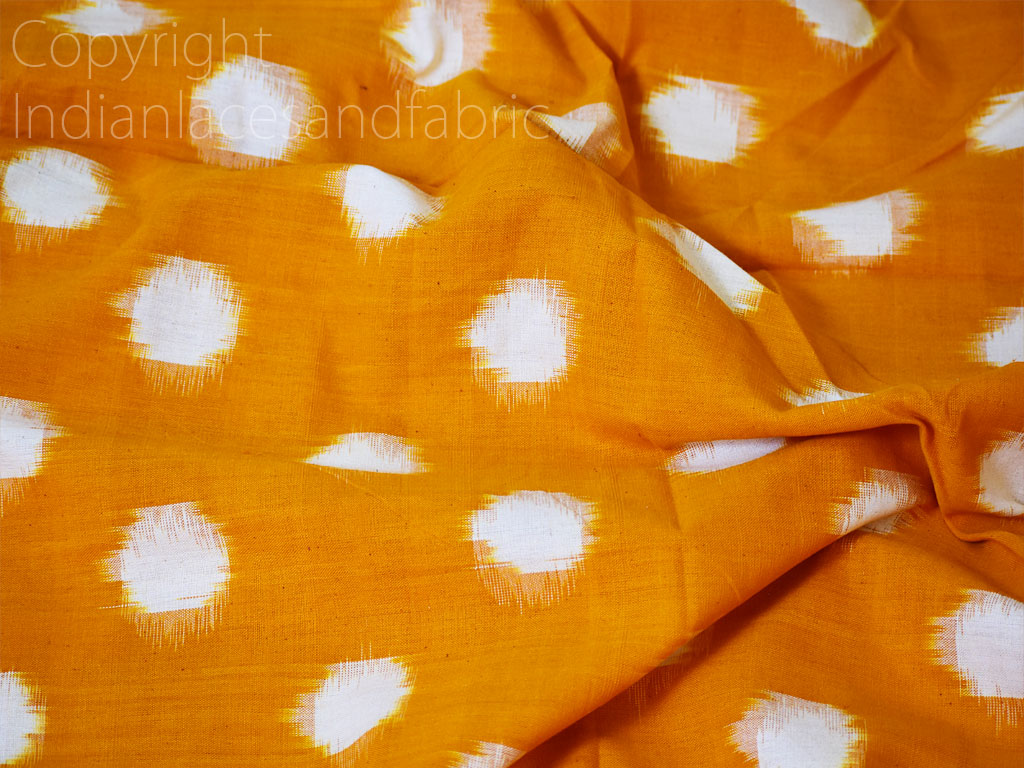 Indian mustard yellow ikat yardage handloom upholstery cotton sold by yard double ikat home decor yarn dyed quilting draperies pillowcases curtains sofa covers fabric