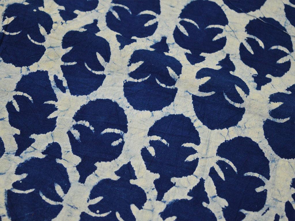 Indigo fabric Dress fabric apparels fabric Fabric By the Yard Hand Dye fabric Blue cotton fabric India Fabric Block Print fabric