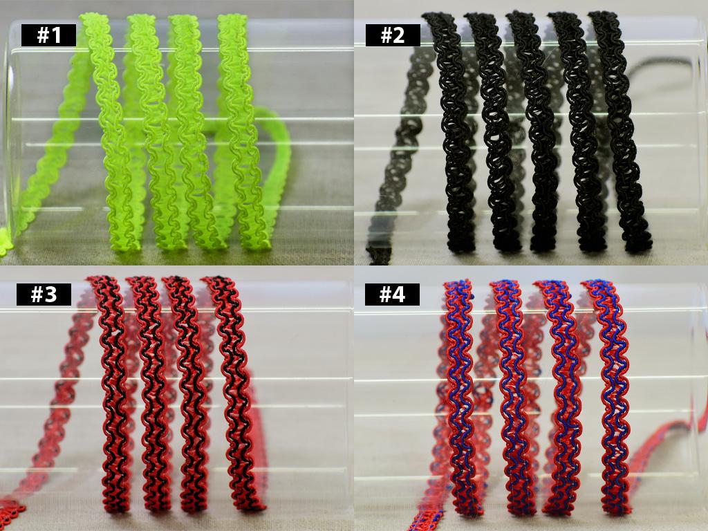 5 or 18 yards multicolored braided ribbon trim