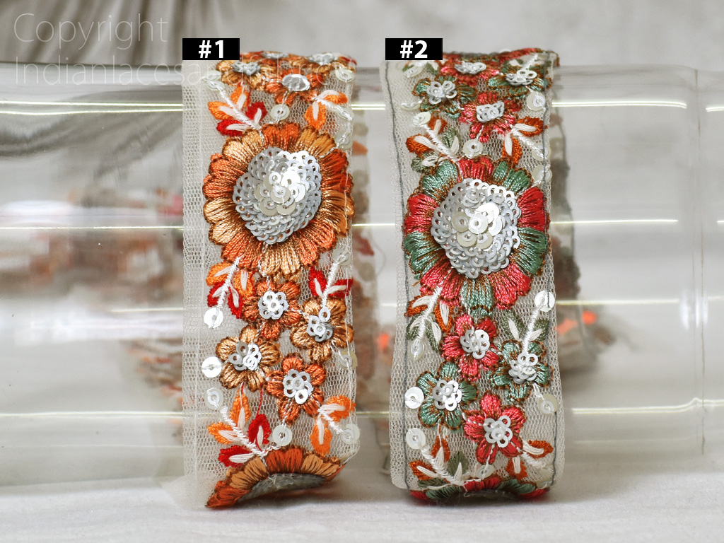 Indian sari border crafting ribbon by the yard sewing fabric wedding saree embroidered costume sewing decorative dresses trim beach bags making ribbon clothing accessories